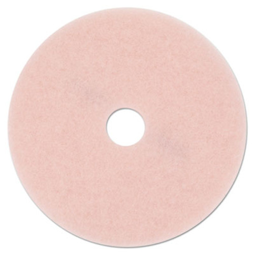 3M Ultra High-Speed Eraser Floor Burnishing Pad 3600  27  Diameter  Pink  5 Carton (MMM25863)