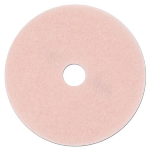 3M Ultra High-Speed Eraser Floor Burnishing Pad 3600  27  Diameter  Pink  5 Carton (MMM25863)