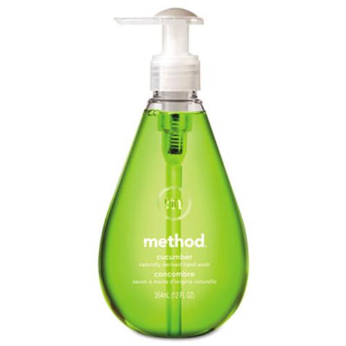 Method Gel Hand Wash, Cucumber, 12 oz Pump Bottle, 6/Carton (MTH00029CT)