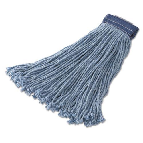 Rubbermaid Commercial Non-Launderable Cotton Synthetic Cut-End Wet Mop Heads  Cotton Synthetic  32 oz  Blue 12 Carton (RCPF559BLU)