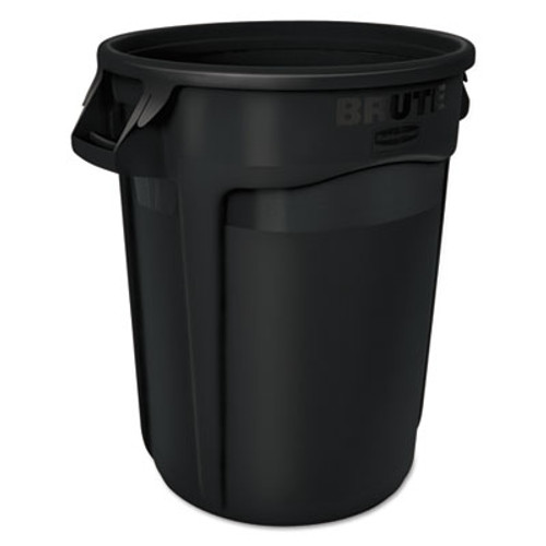 Rubbermaid Commercial Round Brute Container  Executive Series  Plastic  32 gal  Black  6 Carton (RCP1867531CT)