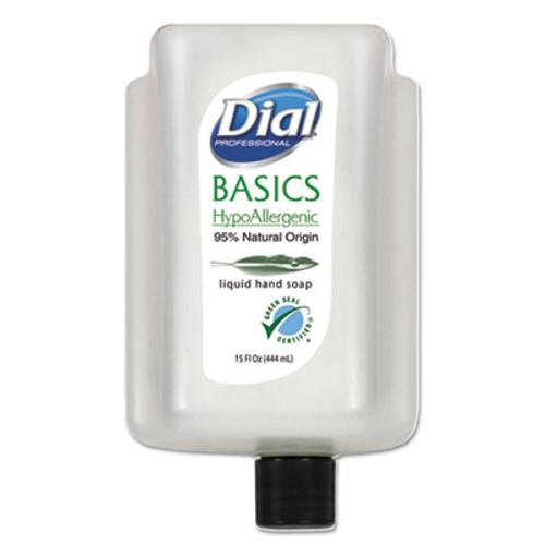 Dial Professional Basics Liquid Hand Soap  Fresh Floral  15 oz Cartridge  6 Carton (DIA99813CT)