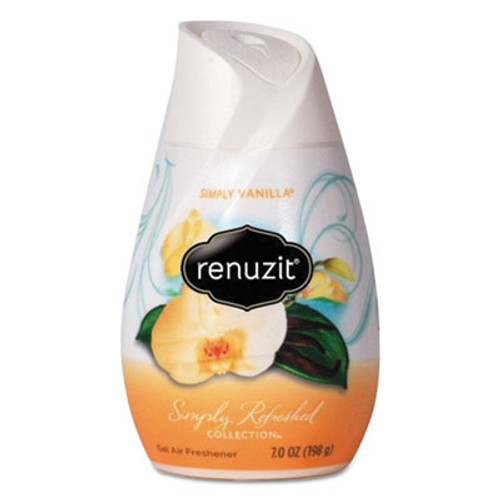 Renuzit Adjustables Air Freshener  Vanilla  Apricot Blossom   Almond  7 oz Solid  12 Carton (DIA03661CT)