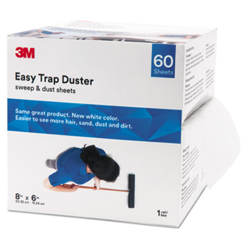 "3M Easy Trap Duster, 8"" x 30ft, White, 60 Sheets/Box, 8 Boxes/Carton (MMM59152WCT)"