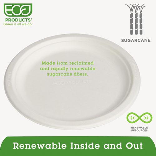 Eco-Products Renewable Compostable Sugarcane Plates Convenience Pack  9   50 PK  10 PK CT (ECOEPP013PKCT)