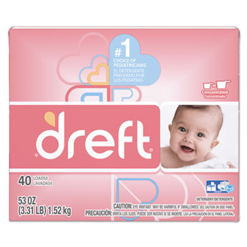 Dreft Ultra Laundry Detergent  Powder  Baby Powder Scent  53 oz Box (PGC85882EA)