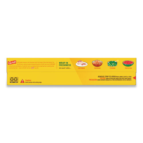 Glad Cling Wrap Plastic Wrap  300 Square Foot Roll  Clear (CLO00022EA)