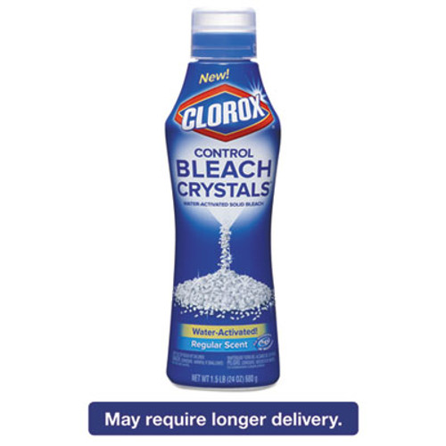 Clorox Control Bleach Crystals  Regular  24 oz Canister (CLO31342EA)