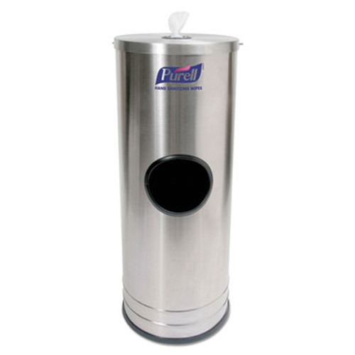 PURELL Dispenser Stand f Sanitizing Wipes  Holds 1500 Wipes  10 25 x 10 25 x 14 5  SS (GOJ9115DS1C)
