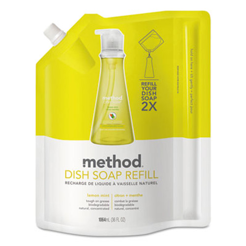 Method Dish Soap Refill  Lemon Mint  36 oz Pouch (MTH01341EA)