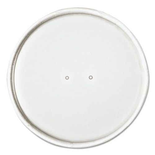 "SOLO Cup Company Paper Lids for 16oz Food Containers, White, Vented, 3.9""Dia, 25/Bag, 20 Bg/Ctn (SCCCH16A)"
