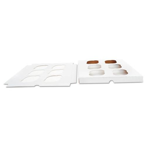 SCT Cupcake Holder Inserts  Paperboard  White Kraft  9 88 x 9 88 x 0 88  200 Carton (SCH10013)