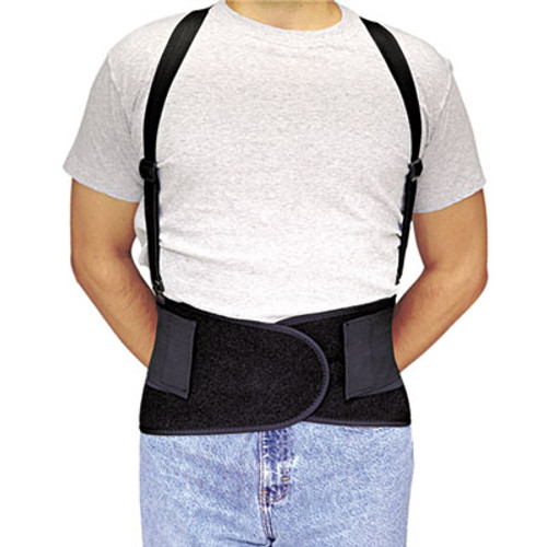 Allegro Economy Back-Support Belt, Small, Black (ALG717601)