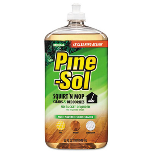 Pine-Sol Squirt 'n Mop Multi-Surface Floor Cleaner, 32 oz Bottle, Original Scent (CLO97348EA)