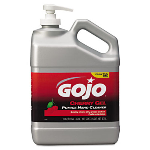 GOJO Cherry Gel Pumice Hand Cleaner  Cherry  1gal (GOJ235802EA)
