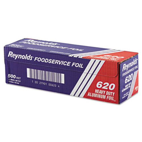 Reynolds Wrap Heavy Duty Aluminum Foil Roll  12  x 500 ft  Silver (RFP620)