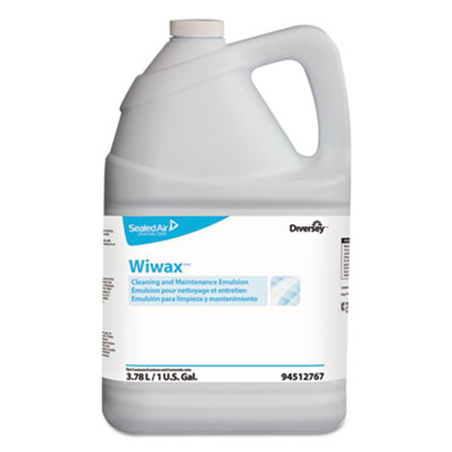 Diversey Wiwax Cleaning and Maintenance Solution  Liquid  1 gal Bottle  4 Carton (DVO94512767)