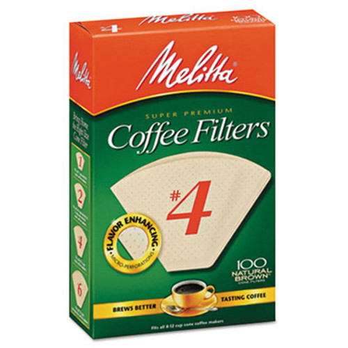 Melitta Coffee Filters  Natural Brown Paper  Cone Style  8 to 12 Cups  1200 Carton (MLA624602)