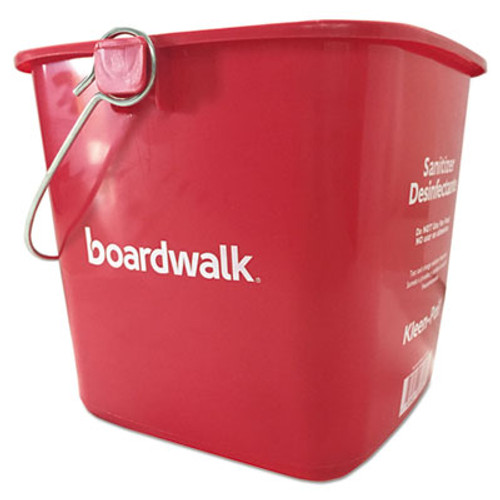 Boardwalk Sanitizing Bucket  6 qt  Red  Plastic (BWKKP196RD)