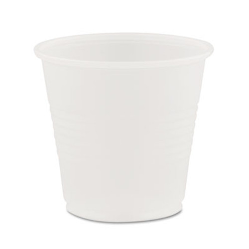 Dart Conex Galaxy Polystyrene Plastic Cold Cups  3 5oz  100 Sleeve  25 Sleeves Carton (DCCY35)