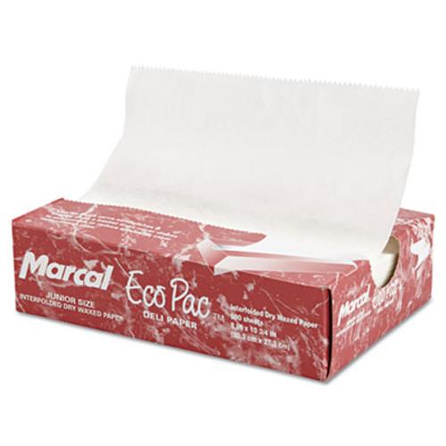 Marcal Eco-Pac Natural Interfolded Dry Wax Paper  8  x 10 75   500 Box  12 Boxes Carton (MCD5291)