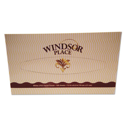 Atlas Paper Mills Windsor Place Premium Facial Tissue, 2-Ply, White, 7.8 x 8, 100/Box (APM330)