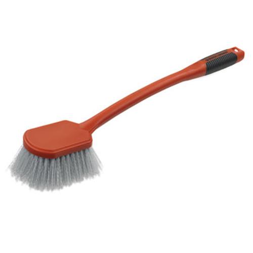 "BLACK+DECKER Long Utility Brush, 5"" Brush, 13"" Handle, 2"" Bristles,Orange/Gray, 3/Box (BUT262137)"