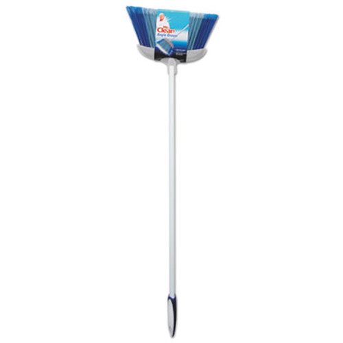 "Mr. Clean Deluxe Angle Broom, 5 1/2"" Bristles, 55.37"", Metal Handle, White (BUT441380)"