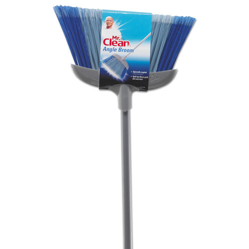 Mr. Clean Deluxe Angle Broom  5 1 2  Bristles  55 37   Metal Handle  White (BUT441380)
