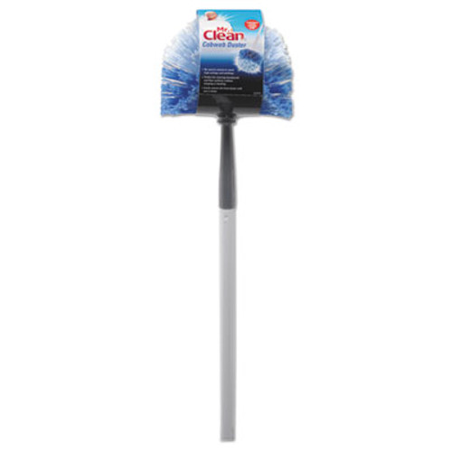 Mr. Clean Telescopic Cobweb Duster  Blue White  11  Brush  60  Handle (BUT444396)