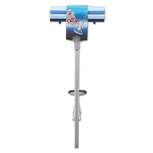 "Mr. Clean Heavy Duty Roller Mop, 45"" Handle, 10 1/2 x 3 Head, White/Blue (BUT446390)"