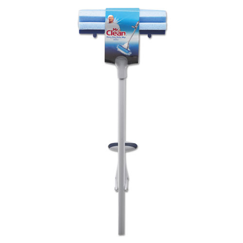 Mr. Clean Heavy Duty Roller Mop  45  Handle  10 1 2 x 3 Head  White Blue (BUT446390)