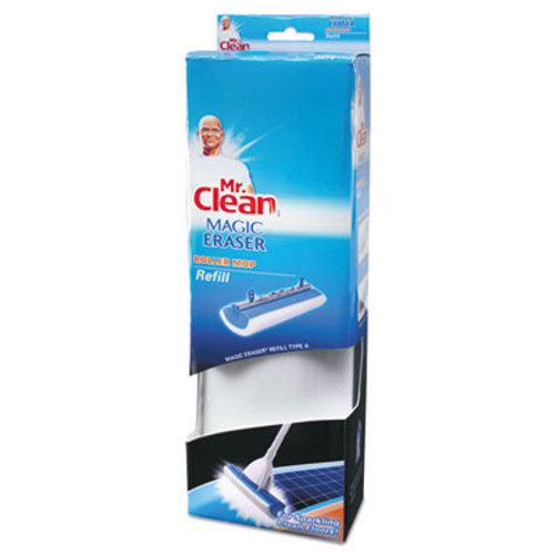"Mr. Clean Magic Eraser Roller Mop Refill, Foam, 11 1/2 "" x 3 13/20"" x 2 1/4"", White/Blue (BUT446841)"