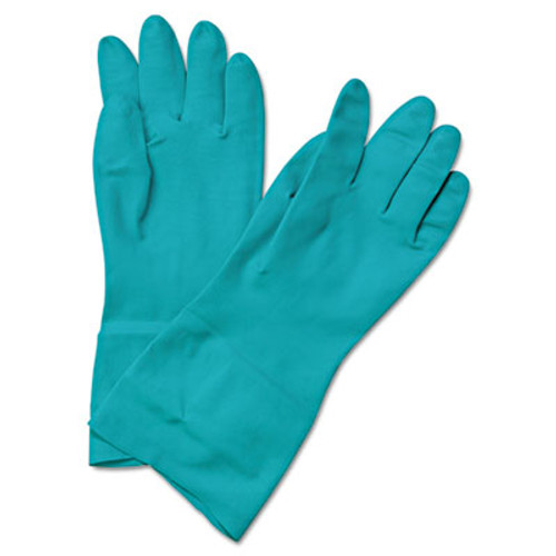Boardwalk Flock-Lined Nitrile Gloves, Small, Green, 1 Dozen (BWK183S)
