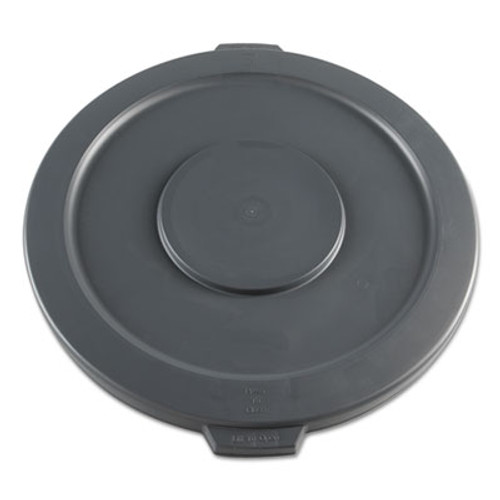 Boardwalk Lids for 32 gal Waste Receptacle  Flat-Top  Round  Plastic  Gray (BWK32GLWRLIDG)