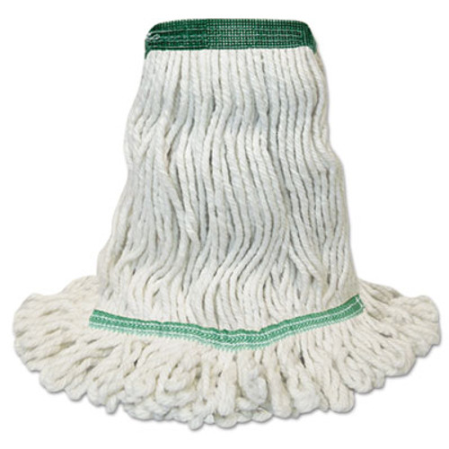 Boardwalk Mop Head  Premium Standard Head  Cotton Rayon Fiber  Medium  White (BWK502WHNB)