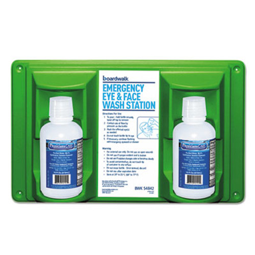 Boardwalk Emergency Eyewash Station  16 oz Bottle  2 Bottles Station (BWK54842)