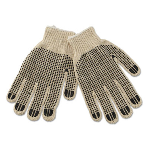Boardwalk PVC-Dotted String Knit Gloves  Large  Dozen (BWK792)