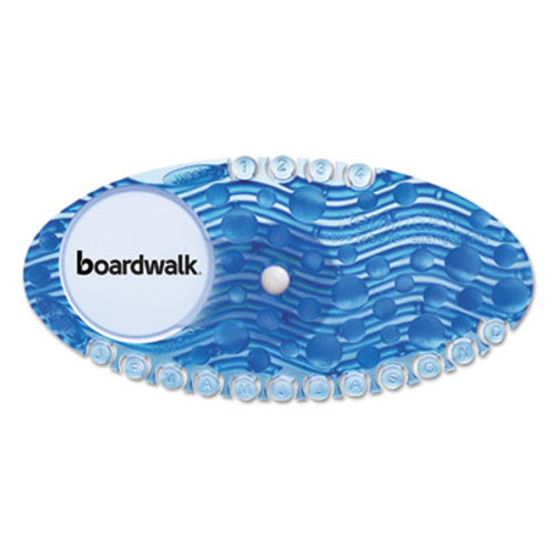 Boardwalk Curve Air Freshener  Cotton Blossom  Solid  Blue  10 Box (BWKCURVECBL)