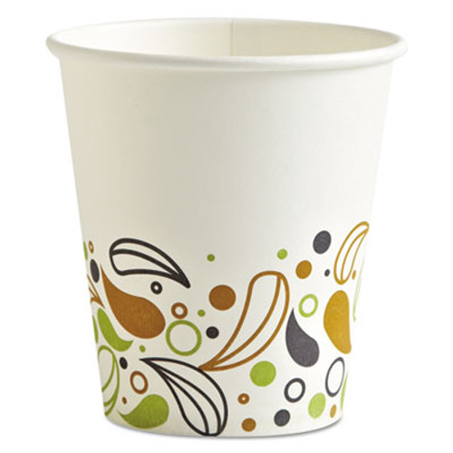 Boardwalk Deerfield Printed Paper Hot Cups  10 oz  20 Cups Sleeve  50 Sleeves Carton (BWKDEER10HCUP)