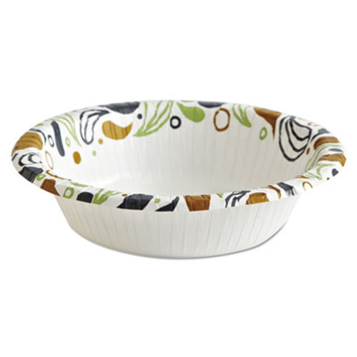 Boardwalk Deerfield Printed Paper Bowl  12 oz  Coated Soak Proof  125 Bowls Pack  8 Pks Ct (BWKDEER12BOWL)