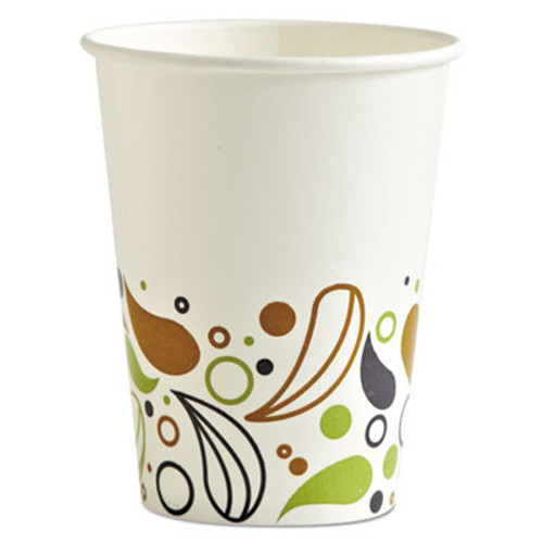 Boardwalk Deerfield Printed Paper Cold Cups  12 oz  20 Cups Sleeve  50 Sleeves Carton (BWKDEER12CCUP)