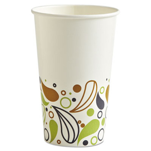 Boardwalk Deerfield Printed Paper Cold Cups, 16 oz, 50 Cups/Pack, 20 Packs/Carton (BWKDEER16CCUP)