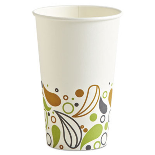 Boardwalk Deerfield Printed Paper Hot Cups  16 oz  20 Cups Sleeve  50 Sleeves Carton (BWKDEER16HCUP)