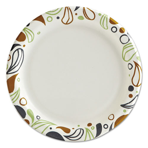 Boardwalk Deerfield Printed Paper Plates  6  Dia Coated Soak Proof 50 Plates Pk  20 Pks Ct (BWKDEER6PLT)
