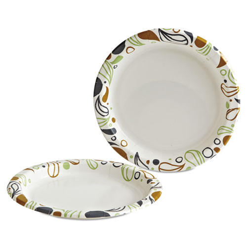 Boardwalk Deerfield Printed Paper Plates  9  Dia Coated Soak Proof 125 Plates Pk  8 Pks Ct (BWKDEER9PLT)