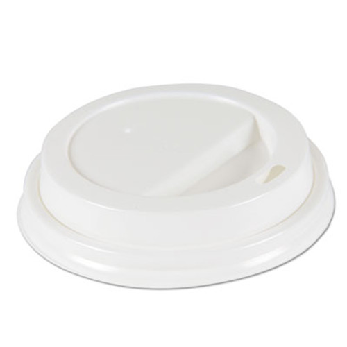 Boardwalk Deerfield Hot Cup Lids for 10oz - 20oz Cups  White  Plastic  50 PK  20 PK Carton (BWKDEERHLIDW)
