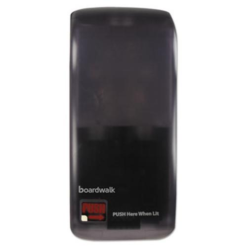 Boardwalk Rely Hybrid Liquid Soap and Hand Sanitizer Dispenser  900 mL  5 5  x 4  x 12    Black (BWKSH900SBBW)