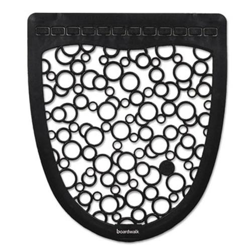 Boardwalk Urinal Mat 2 0  Rubber  17 5 x 20  Black White  6 Carton (BWKUMBW)