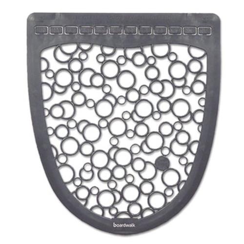 Boardwalk Urinal Mat 2 0  Rubber  17 5 x 20  Gray White  6 Carton (BWKUMGW)